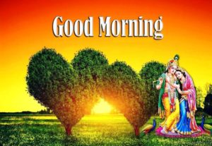 Good Morning God images Radhe Krishna
