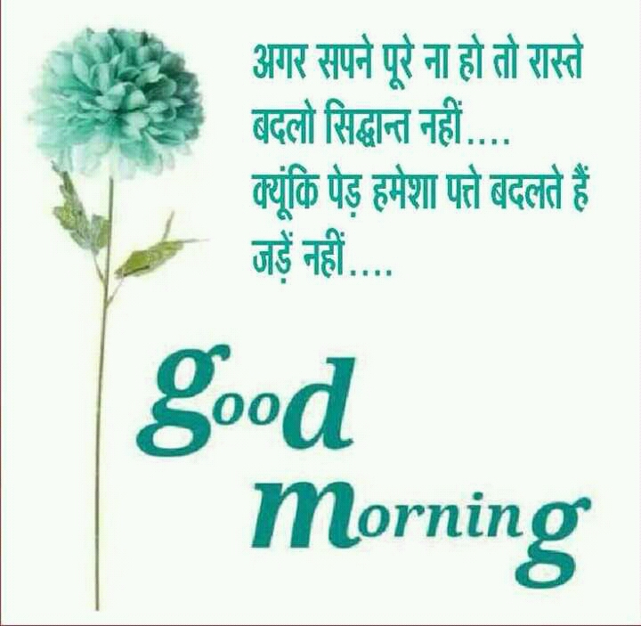 good morning quotes in hindi with images - Greetings1