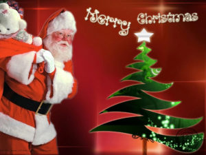 merry christmas wishes images with santa
